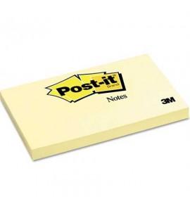 3M Post-it 655 Yapışkanlı Not Kağıdı 76x127 mm Sarı 100 Yaprak